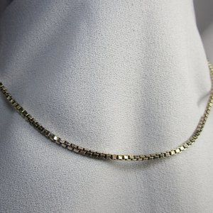 Vintage Paolo Romeo Sterling Box Chain Necklace